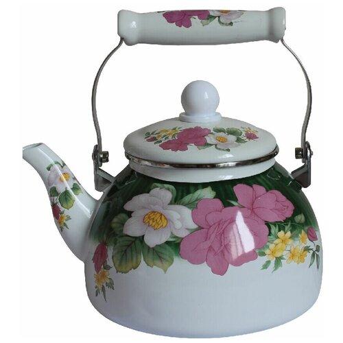 Фото - Чайник эмалированный со свистком Mercury, 2,8 л чайник эмалированный со свистком 2 5 л metrot таково кухня 115432
