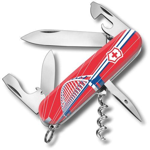 Нож перочинный Victorinox Spartan Крымский мост (1.3603.7R2-07), 91 мм, 12 функций, цвет красный/рисунок