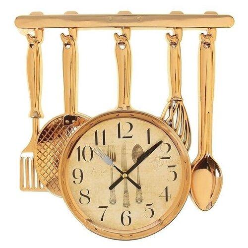столовые приборы Часы настенные кварцевые Рубин Столовые приборы золотистый