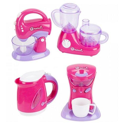 Купить Игровой набор Mia Club Кухонная техника MIA-652 розовый, Детские кухни и бытовая техника