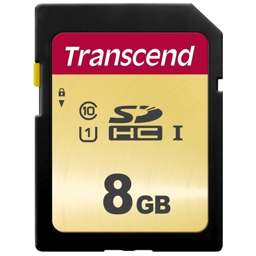 Фото - Карта памяти Transcend TS*SDC500S 8 GB, чтение: 95 MB/s, запись: 60 MB/s карта памяти transcend ts sdxc10 128 gb запись 16 mb s