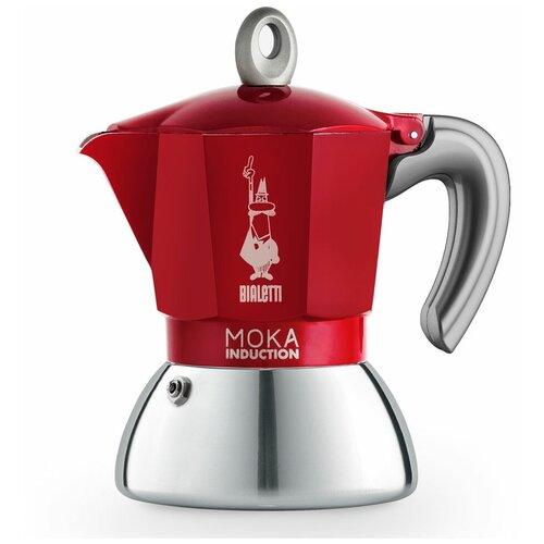 Гейзерная кофеварка Bialetti Moka Induction Red на 2 порции (6942)