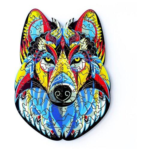 Деревянный пазл Little Heart Магический Волк 15х21 см, 80 деталей - S, Пазлы  - купить со скидкой