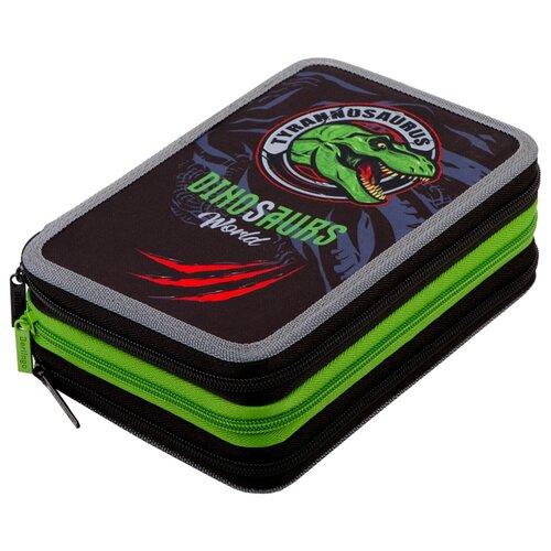 Купить Berlingo Пенал Dino world (PK06435) черный/зеленый, Пеналы