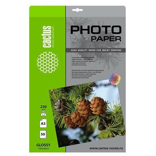 Фото - Бумага cactus A3 CS-GA323050 230 г/м² 50 лист., белый бумага cactus a4 cs ma4170100 170 г м² 100 лист