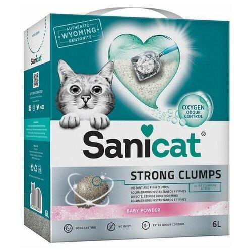 Комкующийся наполнитель Sanicat Strong Clumps Baby Powder (2,3 кг) 6 л
