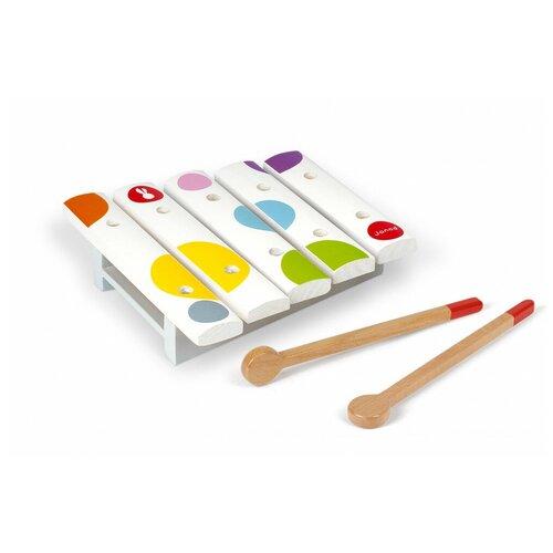 каталки игрушки janod на веревочке ксилофон sweet cocoon Janod ксилофон Мини Конфетти J07603