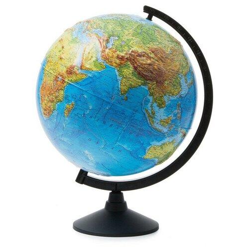 Фото - Глобус Земли физический,Классик,рельефный,320мм globen глобус земли globen физический с подсветкой 150 мм