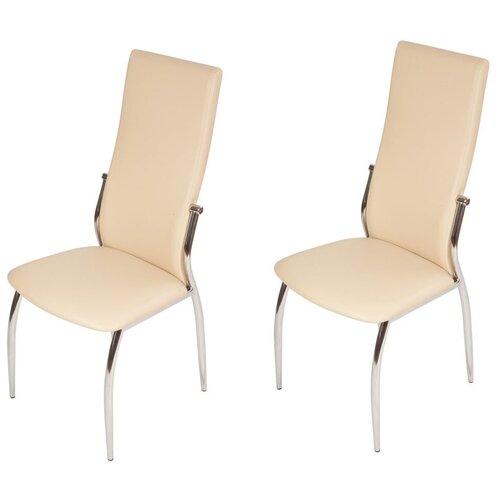 Комплект стульев Аврора Мартини 2шт, Батлер 02/хром