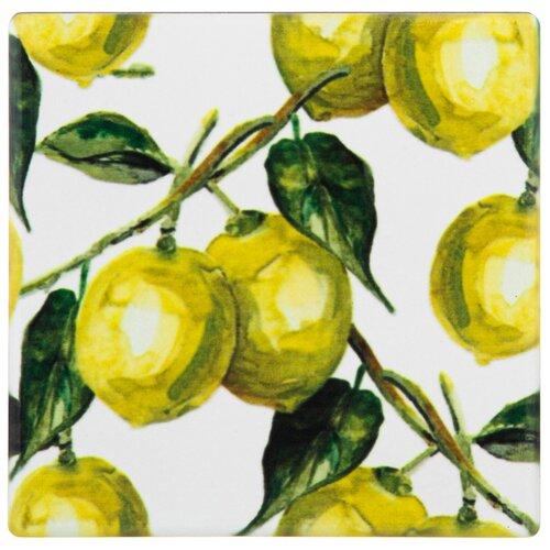 Подставка под горячее Lefard Коллекция Лимоны 10х10 см (229-610) подставка под горячее белый мрамор y6 2218 i k 6 шт 10х10 см