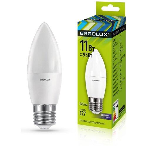 Фото - Светодиодная лампа Ergolux LED-C35-11W-E27-6K светодиодная лампа ergolux led g45 11w e27 6k упаковка 10 шт