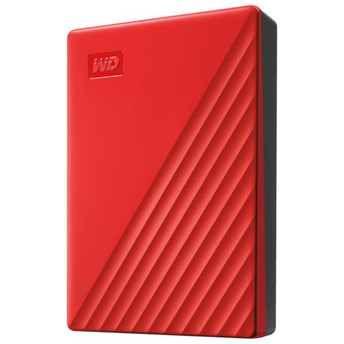 Внешний HDD Western Digital My Passport (WDBYVG/WDBPKJ) 4 TB, красный внешний hdd western digital my passport ultra wdbc3 wdbft 1 tb серебристый
