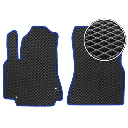 Комплект передних автомобильных ковриков ЕВА Chery Tiggo 3 2014 - наст.время (темно-синий кант) ViceCar