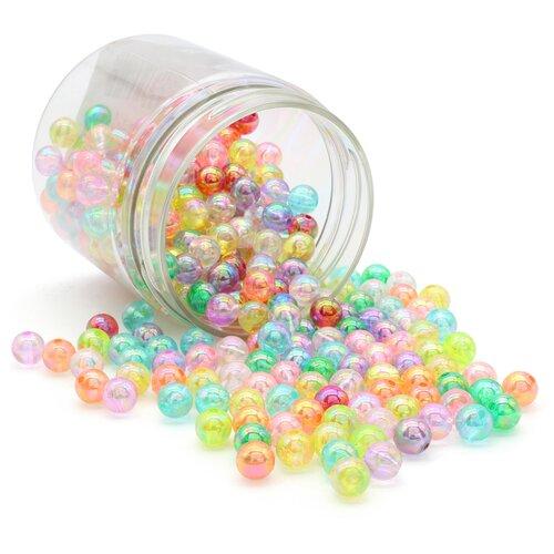 Купить Бусины разноцветные сияющие, 8мм, 280 шт(+/-5%), Astra&Craft, Astra & Craft, Фурнитура для украшений