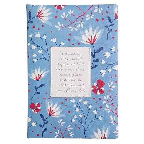Купить Ежедневник InFolio Romantic недатированный, искусственная кожа, А5, 160 листов, синий, Ежедневники