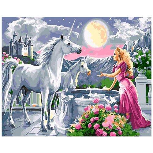Купить Картина по номерам Paintboy Единорог в саду , 40x50 см, Картины по номерам и контурам