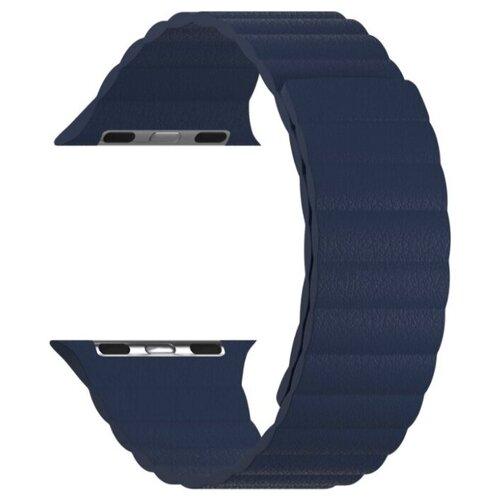 Кожаный ремешок для Apple Watch 38/40 mm LYAMBDA POLLUX DSP-24-40-DB Dark Blue ремешок lyambda pollux для apple watch 38 40 mm dsp 24 40 bk черный