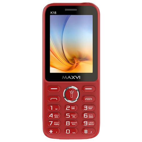 Телефон MAXVI K18 красный
