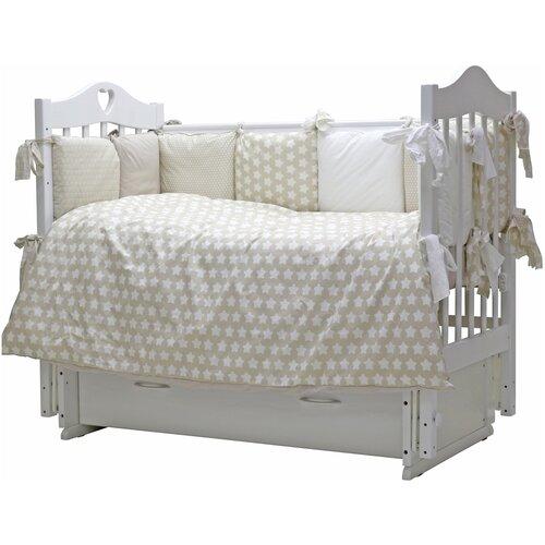 Купить Топотушки комплект в кроватку 12 месяцев (6 предметов) серый, Постельное белье и комплекты