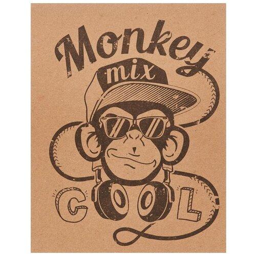 Купить №1 School Тетрадь Monkey 794783, клетка, 48 л., бежевый, Тетради