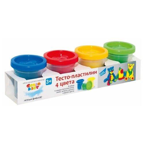 Купить Масса для лепки Genio Kids 4 баночки по 140 г (TA1010), Пластилин и масса для лепки