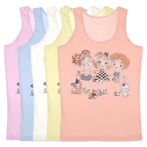 Купить Майка для девочек 4971WKK, Цвет: Микс, Размер: 8/9, 5шт. в упаковке, Donella, Белье и купальники