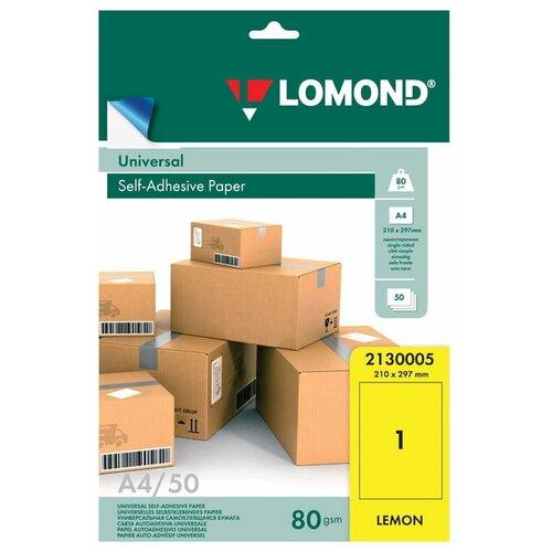 Фото - Бумага Lomond A4 2130005 80 г/м² 50 лист., Желтый бумага lomond a4 2100215 70 г м² 50 лист