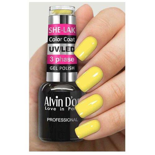Купить Гель-лак для ногтей Alvin D'or She-Lak Color Coat, 8 мл, 3561