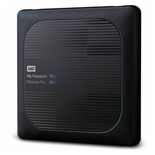 Внешний HDD Western Digital My Passport Wireless Pro 4 TB, черный внешний hdd western digital my passport ultra wdbc3 wdbft 1 tb серебристый