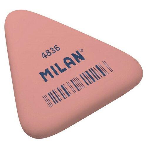 Купить Ластик каучуковый Milan 4836, треугольный, цв.в ассорт 4 штук, Ластики