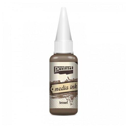 Купить Алкогольные чернила коричневые (Brown) 20 мл, Pentart, Краски