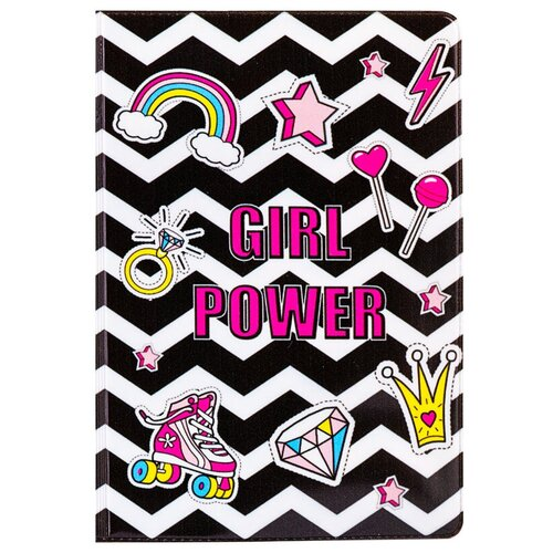 Обложка для паспорта MESHU Girl power, белый/черный