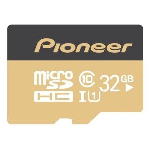 Фото - Карта памяти Pioneer MicroSD Class 10 UHS-I (U1) 32 GB, чтение: 70 MB/s, адаптер на SD карта памяти pioneer microsd class 10 uhs i u1 16 gb чтение 70 mb s адаптер на sd