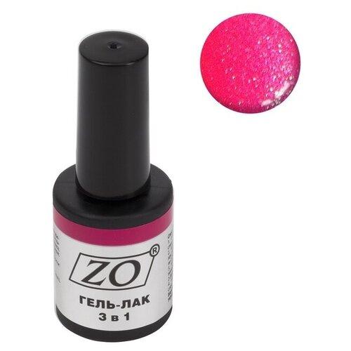 Купить Гель-лак 3 в 1 ZO ZO-GT, 10 мл, 108 ярко-малиновый шиммер