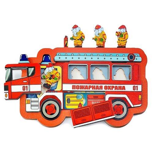 Фото - Рамка-вкладыш Нескучные игры Пожарная охрана (8191), 18 дет. комбинезон lassie 720743 8351 8191 размер 104 8191