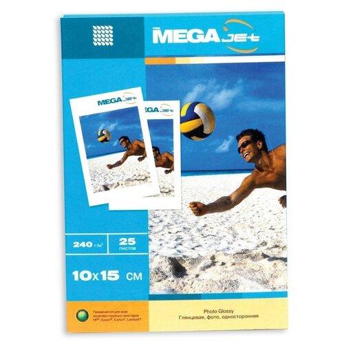 Бумага ProMEGA для цветной струйной печати, Jet, 10*15, 240 г, глянцевая, 25 листов (60570)