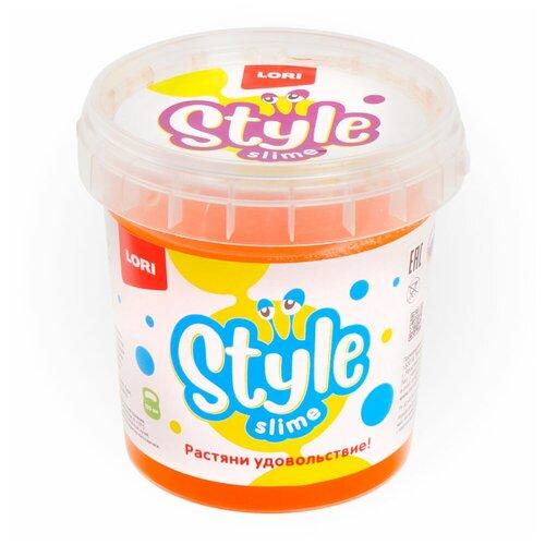 Лизун LORI Style slime классический с ароматом апельсина оранжевый