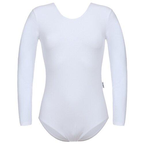Купить Купальник гимнастический для девочек, ALIERA, Г 9.03, размер 134-140, белый, Купальники и плавки