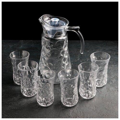 Фото - Набор питьевой 7 пред Бабл кувшин 1,6 л, 6 стаканов 200 мл 4466686 набор сервировочный 8 пр розы на белом поднос круглый кувшин 0 25 л рюмка 20 мл 6 шт 409293