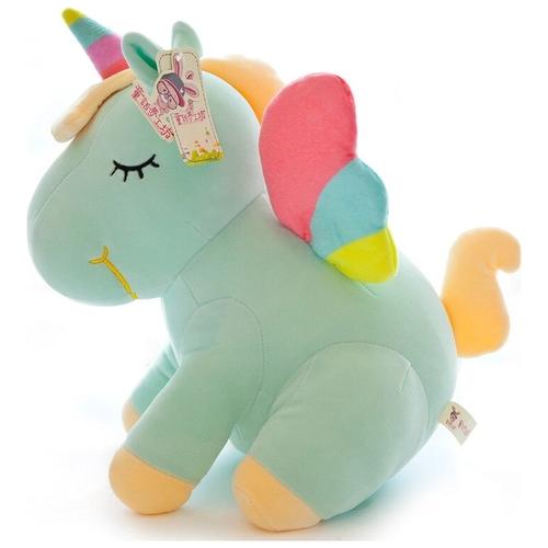 Ультра мягкая игрушка Единорог 20см, зеленый