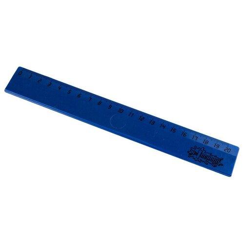 Купить Линейка 20см №1 School пластик синий 6 штук, Чертежные инструменты