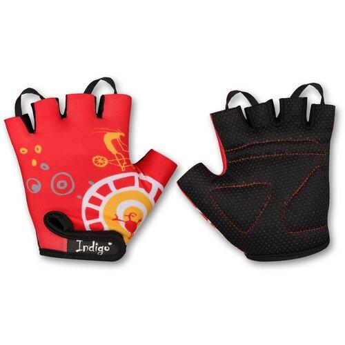 Перчатки вело детские INDIGO Винтик SB-01-8825 Красный 3XS