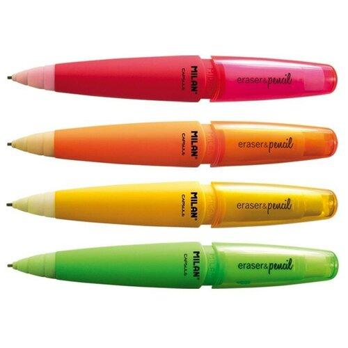 Купить Карандаш механический MILAN Capsule Fluo, 1, 3мм, 2B, корп.в асс., 18504920 2 штуки, Механические карандаши и грифели