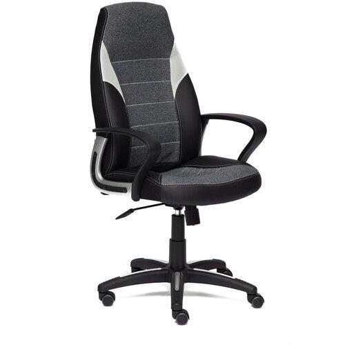 Фото - Компьютерное кресло TetChair Интер офисное, обивка: текстиль/искусственная кожа, цвет: черный/темно-серый,серый компьютерное кресло tetchair багги обивка текстиль искусственная кожа цвет черный серый
