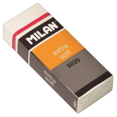 Купить Ластик пластиковый Milan Extra Soft 5020, карт. держатель, белый 2 штук, Ластики