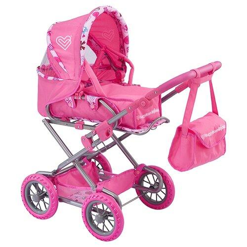 Фото - Коляска-трансформер Buggy Boom Infinia (8459) светло-розовый/мишки коляски для кукол buggy boom инфиниа 8459 2 в 1