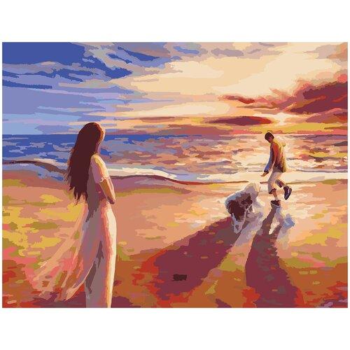 Купить Картина по номерам Закат, 70 х 100 см, Красиво Красим, Картины по номерам и контурам