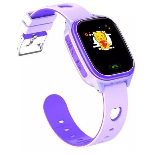 Детские умные смарт-часы Smart Baby Watch Y85 2G, с поддержкой Wi-Fi и GPS, SIM card (Фиолетовый) детские умные часы c gps smart baby watch kt14 оранжевый