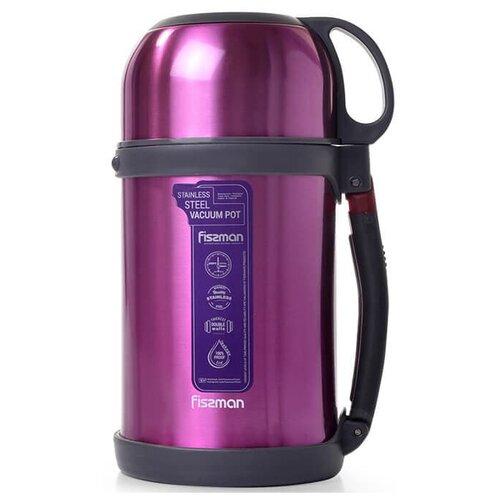 Классический термос Fissman 9812, 1 л розовый