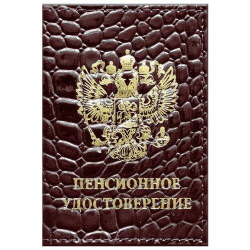 Обложка для пенсионного удостоверения OfficeSpace 240446/240447, коричневый